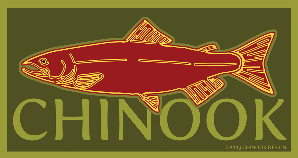 Chinook salmon logo of Chinook Design Inc.