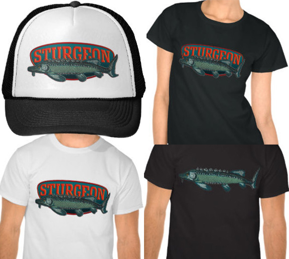 Stugeon logo hats and shirts